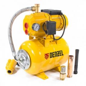 Насосная станция PSD800C, 800 Вт, 2400 л/ч, ресивер 24 л, всасывание 20 м Denzel 97212