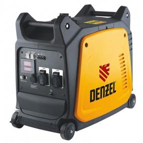 Генератор инверторный GT-3500i, X-Pro 3,5 кВт, 220 В, бак 7,5 л, ручной старт Denzel 94644