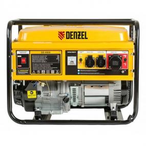 Генератор бензиновый GE 6900, 5,5 кВт, 220 В/50 Гц, 25 л, ручной старт Denzel 94637