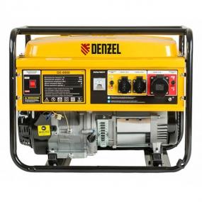 Генератор бензиновый GE 8900, 8,5 кВт, 220 В/50 Гц, 25 л, ручной старт Denzel 94639