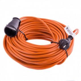 Удлинитель-шнур силовой, 20 м, 1 розетка, 10 A, серия УХ10 Denzel