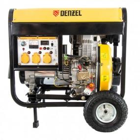 Генератор дизельный DD6300Е, 5,0 кВт, 220 В/50 Гц, 15 л, электростартер Denzel 94657