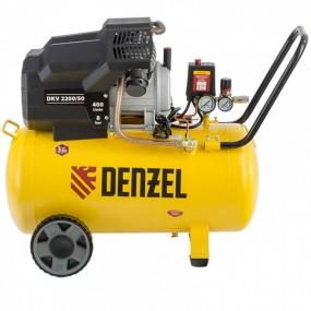 Компрессор воздушный DKV2200/50, Х-PRO 2,2 кВт, 400 л/мин, 50 л Denzel 58083