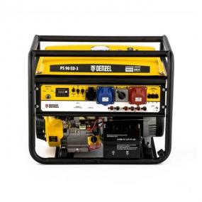 Генератор бензиновый PS 80 EA, 8,0 кВт, 230В, 25л, электростартер Denzel 946924