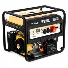 Генератор бензиновый PS 80 E-3, 6,5 кВт, 400В, 25л, электростартер Denzel 946954
