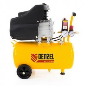 Компрессор пневматический 1,5 кВт, 206 л/мин, 24 л Denzel 58061