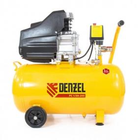 Компрессор пневматический 1,5 кВт, 206 л/мин, 50 л Denzel 58066
