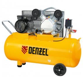 Компрессор пневматический 2,2 кВт, 370 л/мин, 100 л Denzel 58091