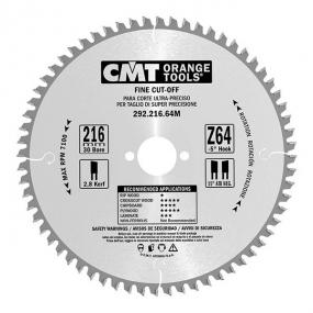 Диск пильный 216x30x2,8/1,8 -5° 15° ATB Z=64 CMT 292.216.64M