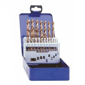 Набор сверл по металлу (19 шт.) HSS-G Co 5 DIN 338 Exact GQ-32005