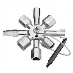 Ключ для электрошкафов TwinKey Knipex KN-001101