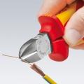 Кусачки боковые VDE со страховочным креплением Knipex KN-7006180T