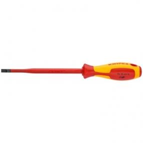 Отвертка для винтов с шлицевой головкой (тонкая) VDE Knipex KN-982065SL