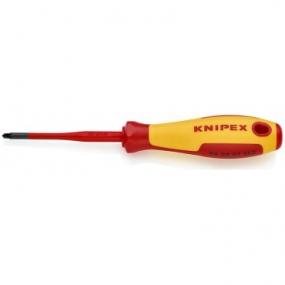 Отвертка VDE PlusMinus SL/PZ тонкая Knipex KN-982502SLS