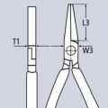 Плоскогубцы с гладкими губками 140 мм Knipex KN-2001140