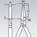 Плоскогубцы монтажные Knipex KN-2801200