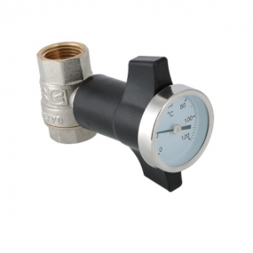 """Кран шаровый 1/2""""-10ММ с термометром Valtec VT.808.N.04"""
