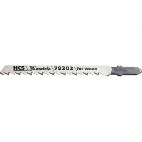 Полотна для электролобзика по дереву 75 х 4,0 мм, T101D, HCS, 3 шт Matrix 78202