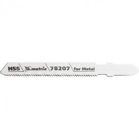 Полотна для электролобзика по металлу 50 х 1,2 мм, T118A, HSS, 3 шт Matrix 78207