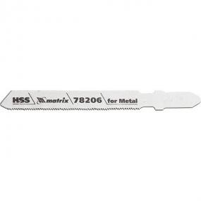 Полотна для электролобзика по металлу 50 х 0,8 мм, HSS, 3 шт  Matrix 78206