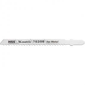 Полотна для электролобзика по металлу 75 х 3 мм, HSS, 3 шт Matrix 78208
