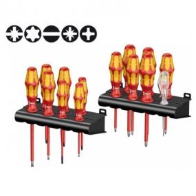 Набор диэлектрических отвёрток Kraftform Big Pack 100 VDE 14 шт. Wera WE-105631