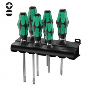 Набор отвёрток 334/355/6 Rack Kraftform Plus Lasertip 6 шт Wera WE-105656