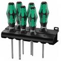 Набор отвёрток 335/350/355/6 Kraftform Plus Lasertip 6 шт Wera WE-105622