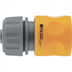 Соединитель пластмассовый, быстросъемный для шланга 3/4, однокомпонентный Palisad Luxe