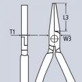 Плоскогубцы с гладкими губками 160 мм Knipex KN-2001160
