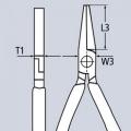 Плоскогубцы с гладкими губками 180 мм Knipex KN-2001180