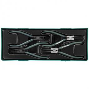 """Универсальный набор щипцов для стопорных колец 7"""", 4 предмета AG010002SP Jonnesway"""