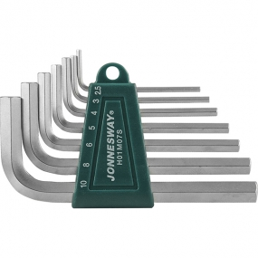 Комплект угловых шестигранников 2,5-10 мм, S2, 7 шт. H01M07S Jonnesway