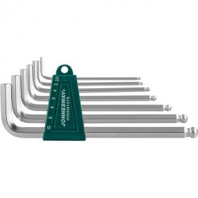 Комплект угловых шестигранников Long с шаром 2,5-10 мм, S2, 7 шт. H05SM107S Jonnesway