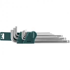 Комплект угловых шестиграников EXTRA LONG с шаром 1,5-10 мм, S2, 9 шт. H06SM109S Jonnesway