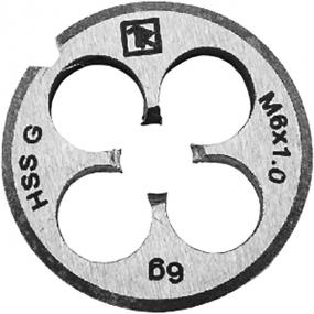 Плашка D-COMBO круглая ручная М10х1.5, HSS, Ф30х11 мм MD1015 Thorvik