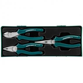 Набор ШГИ: пассатижи, бокорезы, утконосы, 3 шт P0803SP Jonnesway 48154