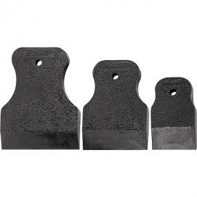 Набор шпателей 40-60-80 мм, черная резина, 3 шт, Россия