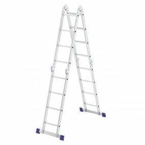 Лестница шарнирная алюминиевая, 4 х 4 ступени, Россия, Сибртех