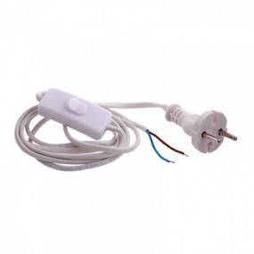 Шнур электрический соединительный 1,7 м, 120 Вт, белый, тип V-1 Сибртех