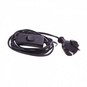 Шнур электрический соединительный 1,7 м, 120 Вт, черный, тип V-1 Сибртех