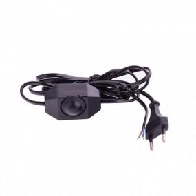 Шнур электрический соединительный 1,5 м, 120 Вт, черный Сибртех