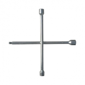 Ключ-крест баллонный, 17 х 19 х 21 мм, под квадрат 1/2 Сибртех 14258