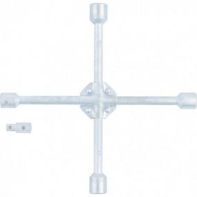 """Ключ-крест баллонный 17х19х21х22 мм с переходником на 1/2"""" Stels 14249"""