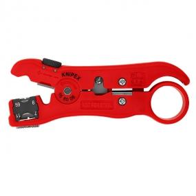 Стриппер для коаксиальных дата-кабелей 125 мм Knipex KN-166006SB
